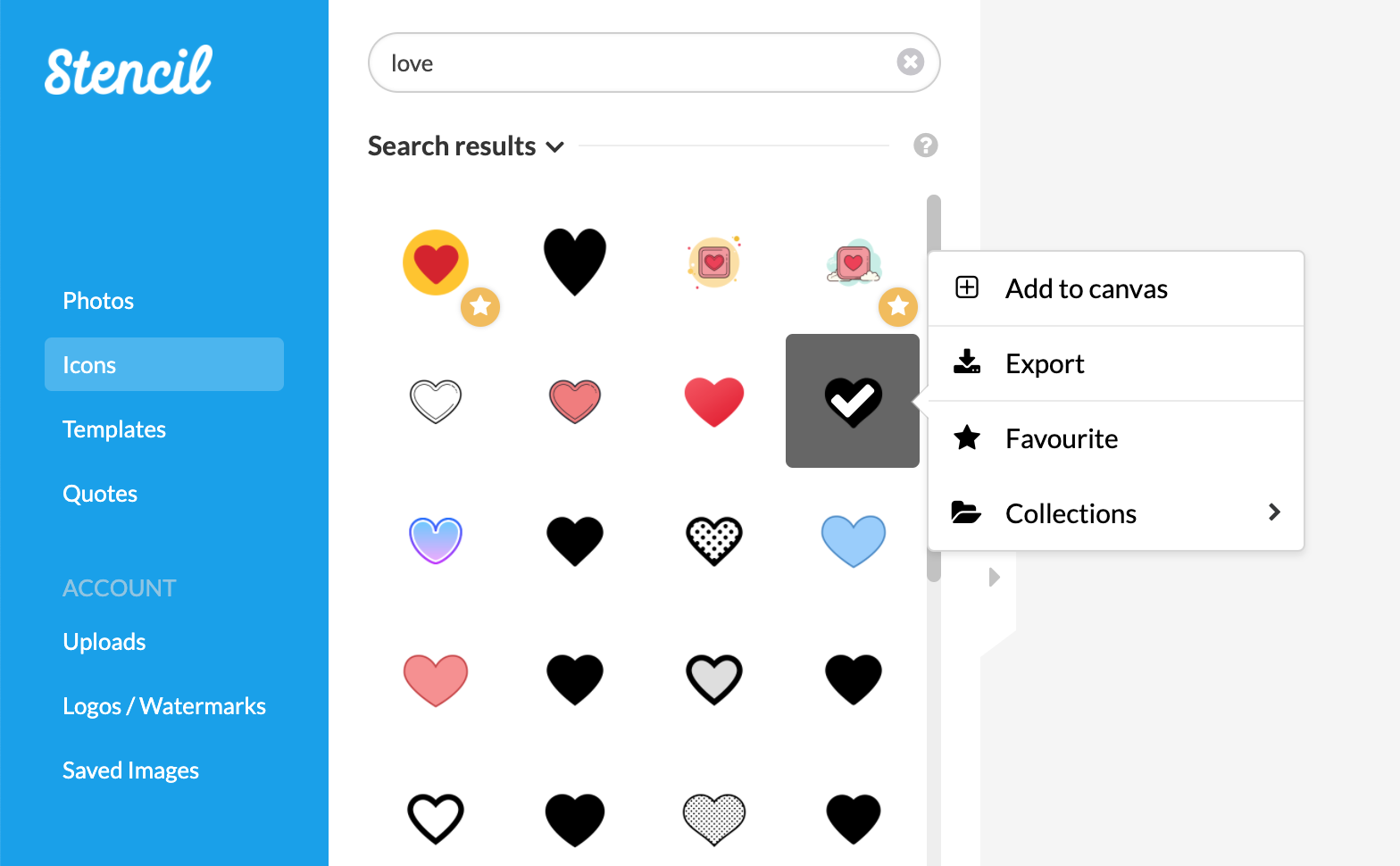 Sample Icons8 Search