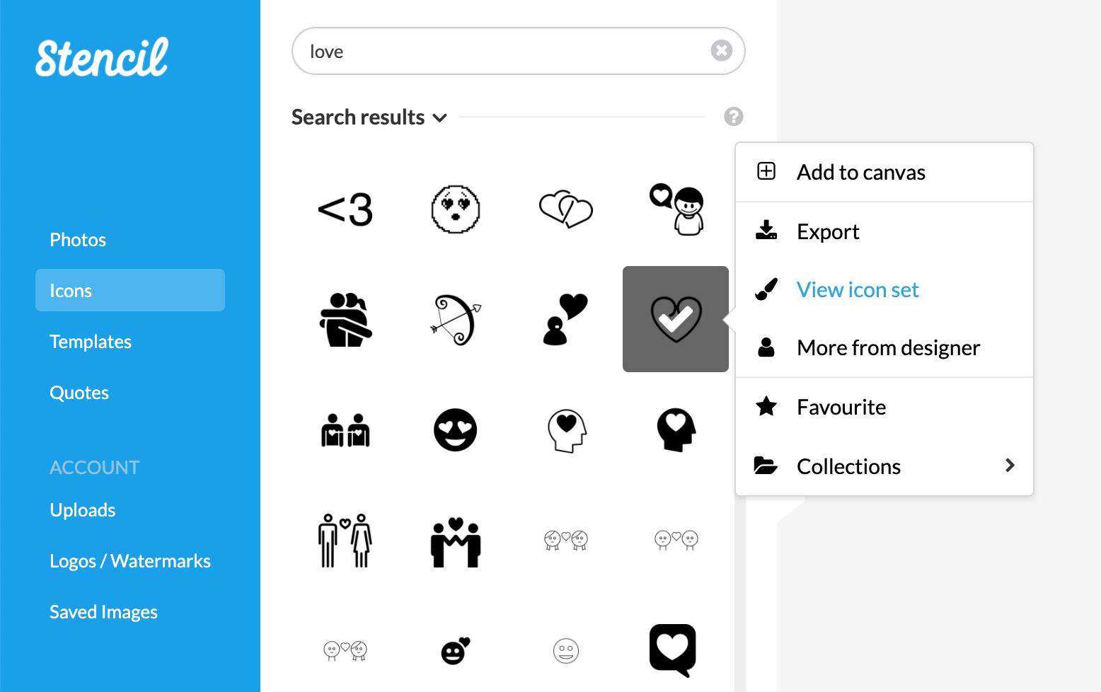Sample The Noun Project Icon Search