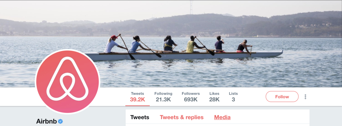 Twitter Header AirBnB Example