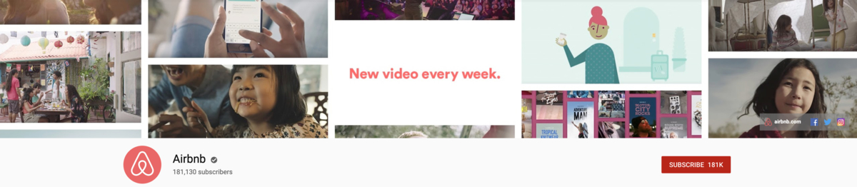 YouTube Channel Art Airbnb Example