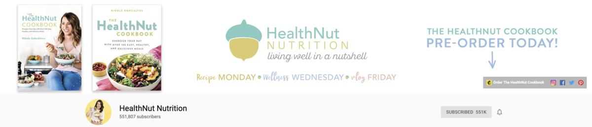 YouTube Channel Art HealthNut Example